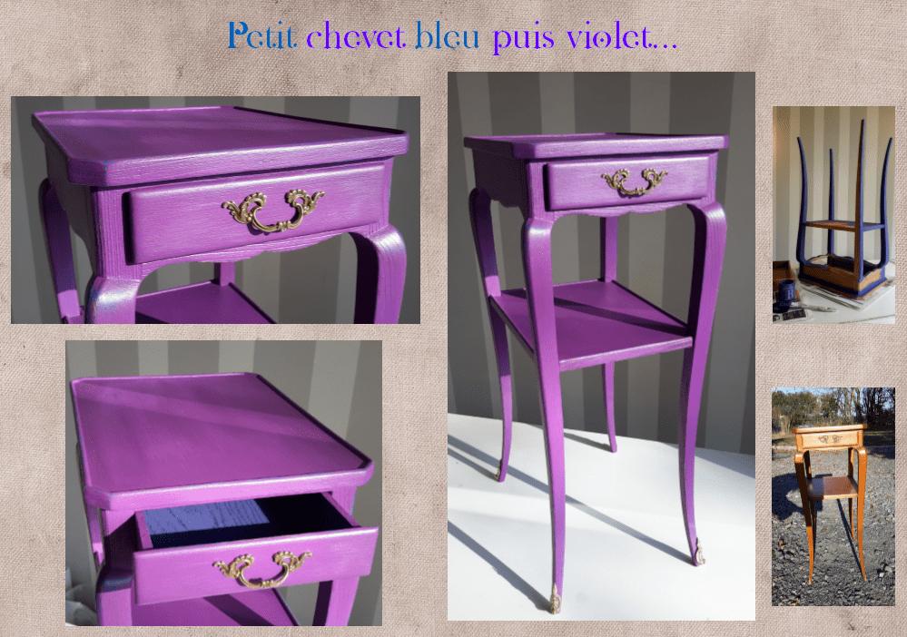 chevet violet relook lexquisetrouvaille l 39 exquise trouvaille. Black Bedroom Furniture Sets. Home Design Ideas