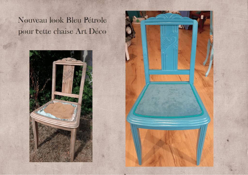 relooker-chaise-art-déco-bleupétrole