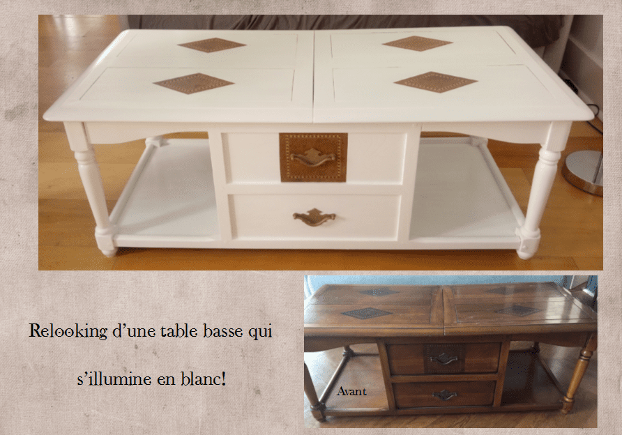Relooking table beautiful relooking table basse with - Relooker une table de salon ...