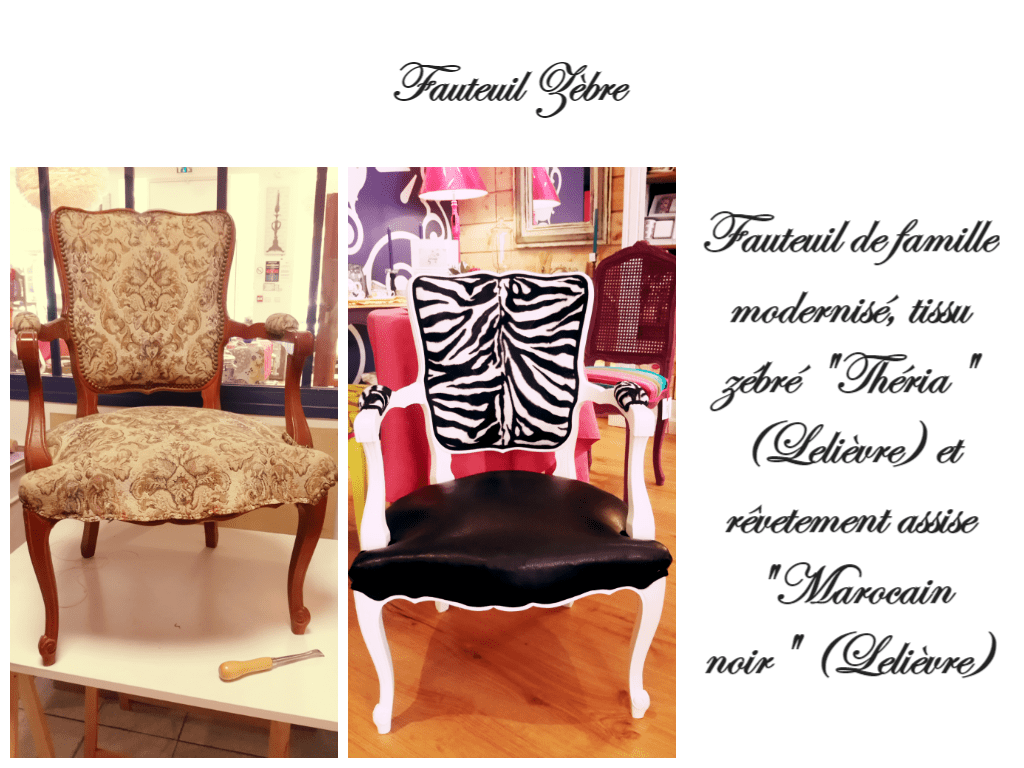 Relooker-chaise-siege-zebre