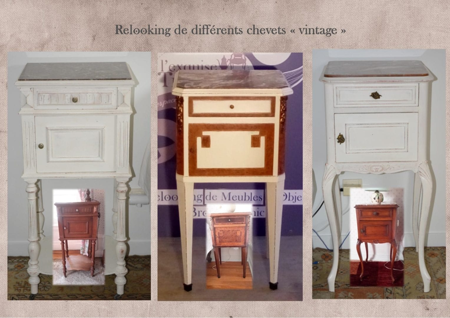 relooking chevet vintage lexquisetrouvaille