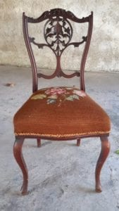 Chaise victorienne chinée par L'Exquise Trouvaille