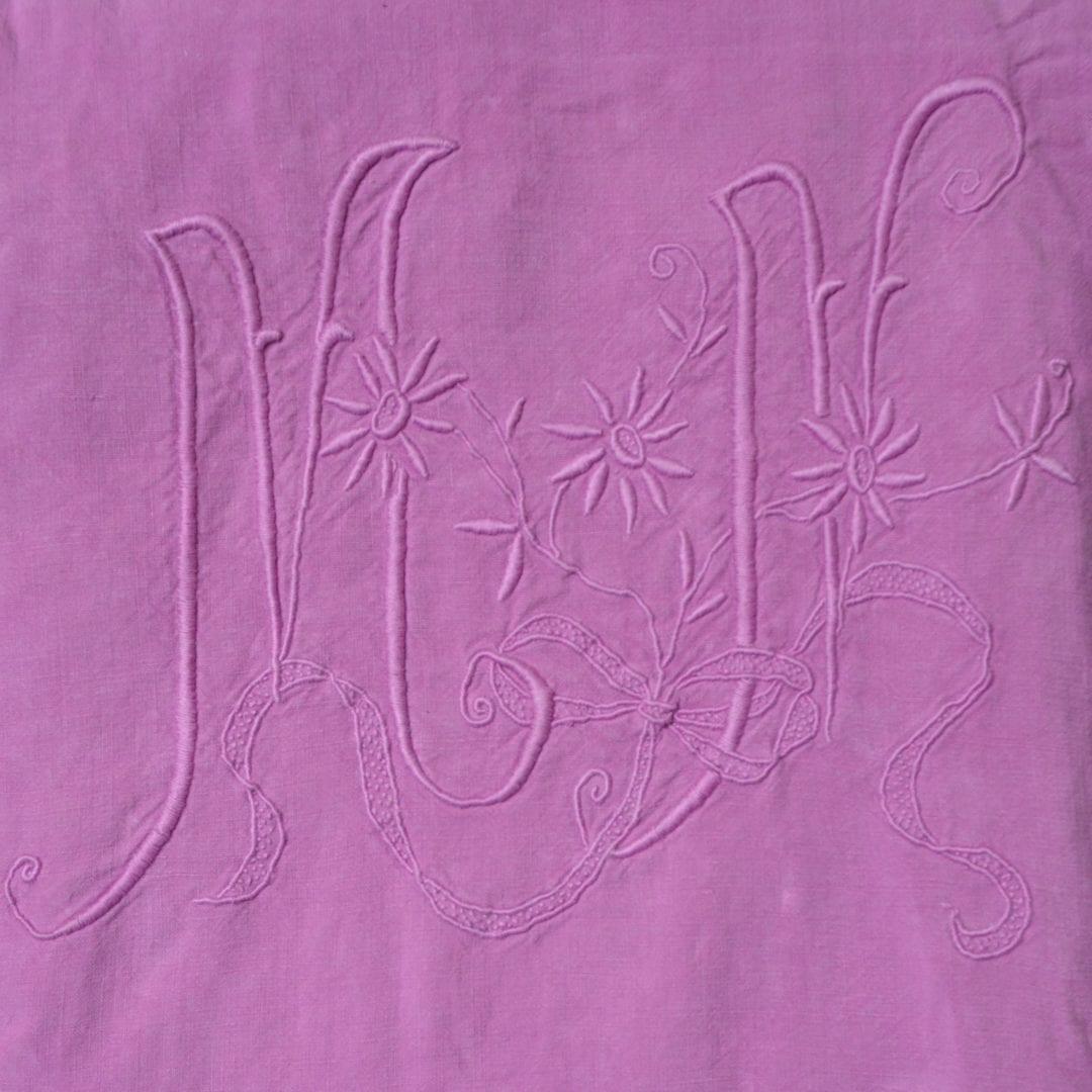 Drap ancien teint par L'Exquise Trouvaille