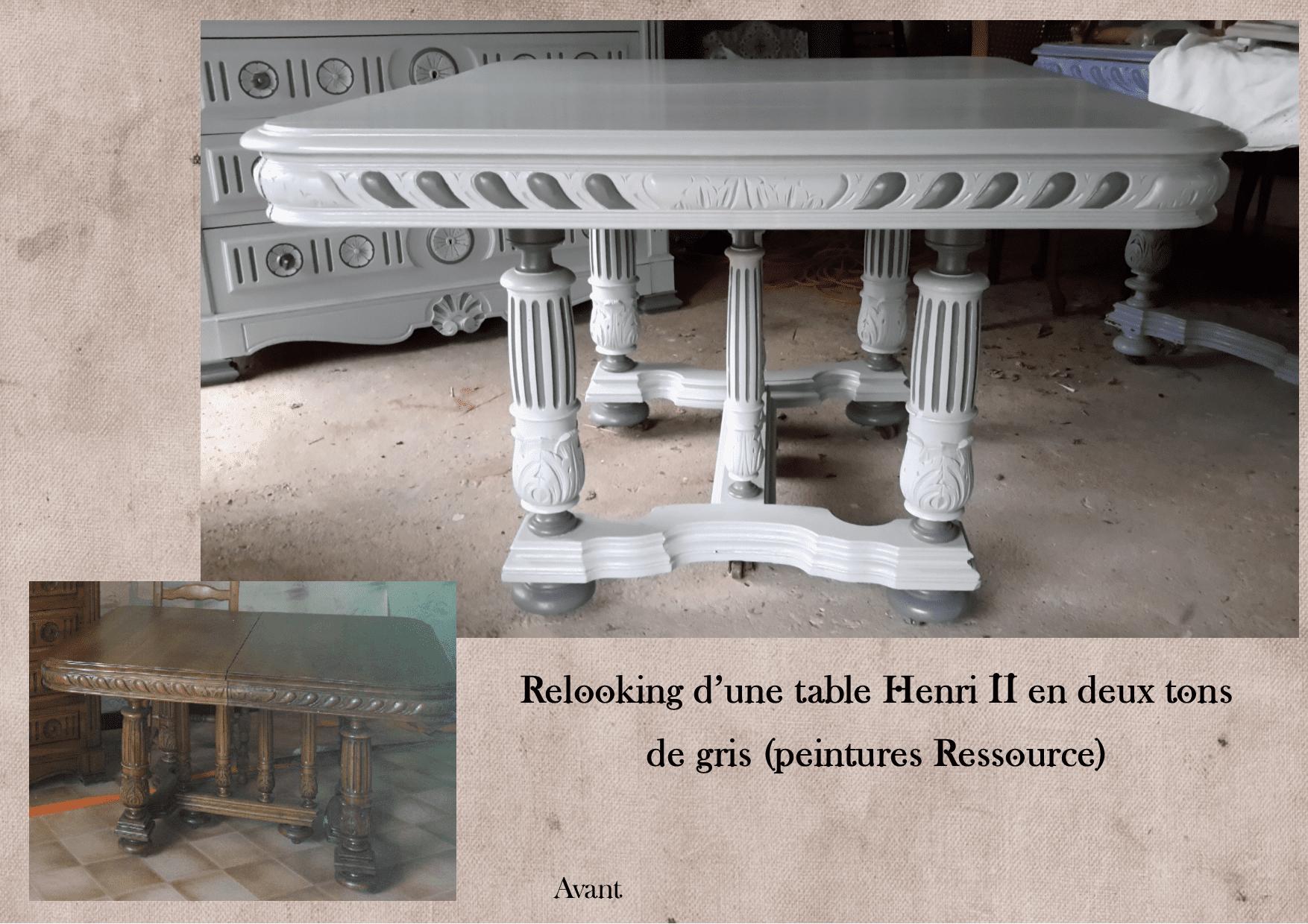 Table henri2 relookée par L'Exquise Trouvaille