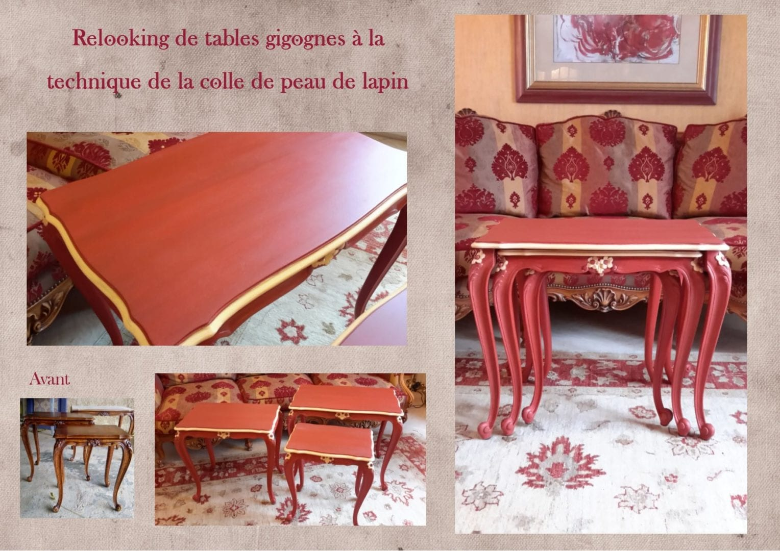 relooking tables gigognes louis xv lexquisetrouvaille